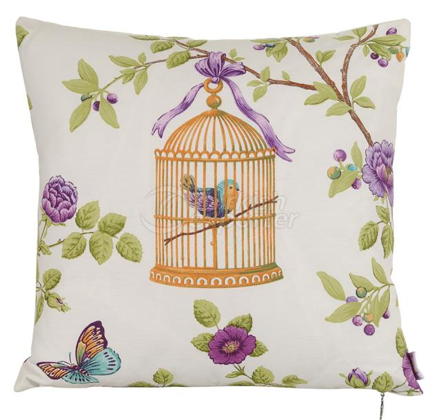 Bird on the cage pillowcase