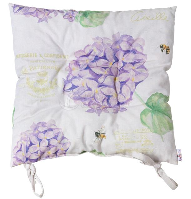 violet hortensia chair pad