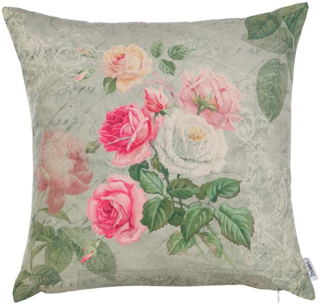 White and pink roses pillowcase