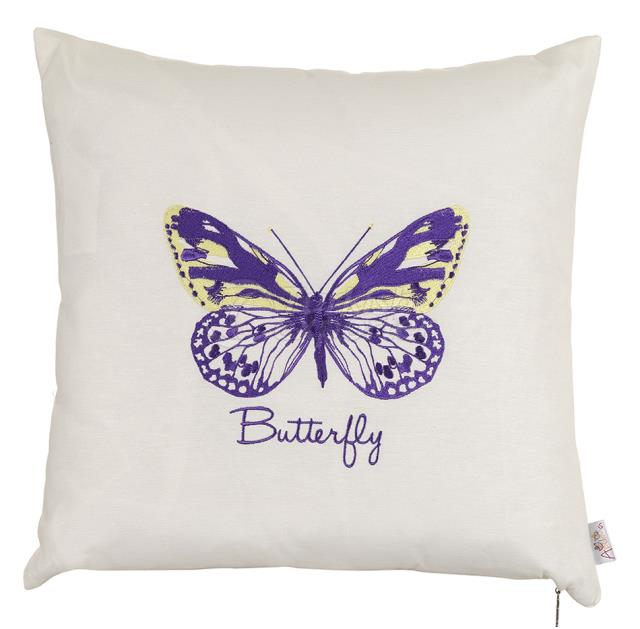 Violet butterfly embroidery