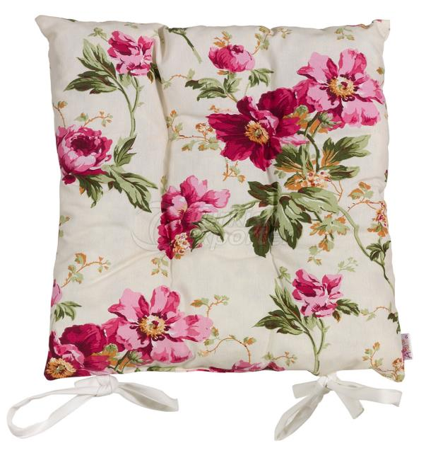 Fuschia flowers chair pad