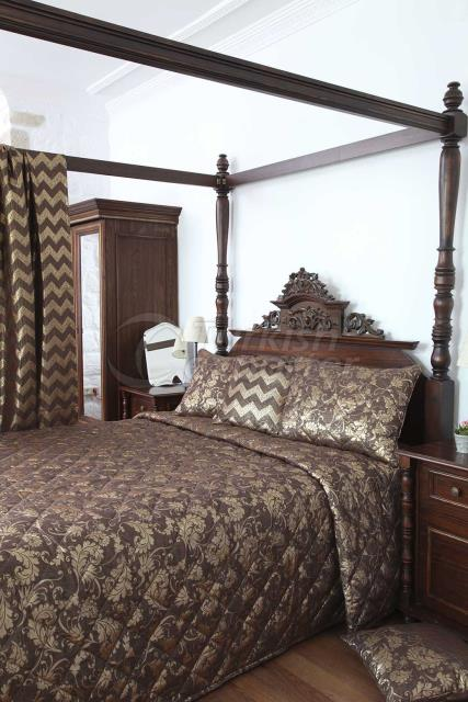 Brown Jacquard bed linen concept