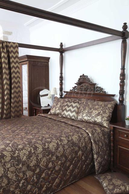 Brown Jacquard bed linen concept