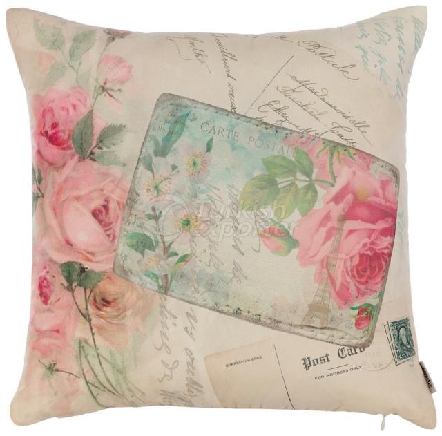 Pink printed roses pillowcase