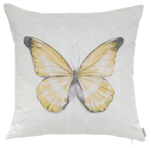 Yellow butterfly pillowcase