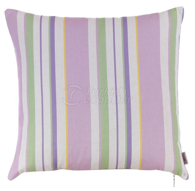Feature violet and green pillowcase
