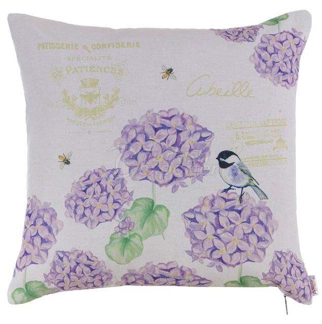 Violet hortensia pillowcase