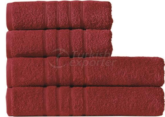 Burgundy towel
