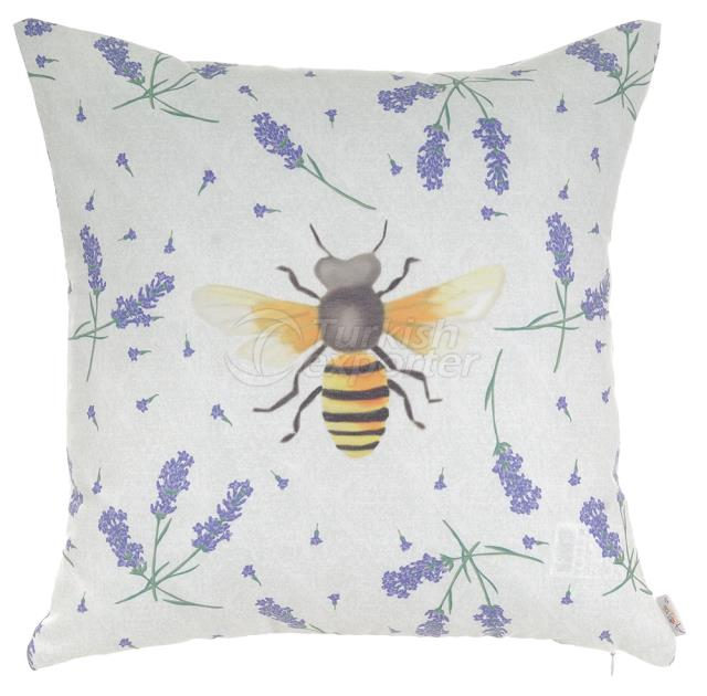 Bee and lavander pillowcase