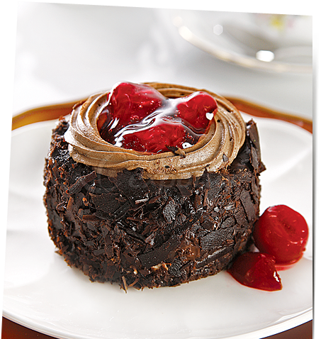 Black Forest Fruit Cupcake