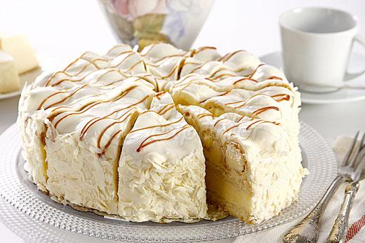 White Profiterole Cake