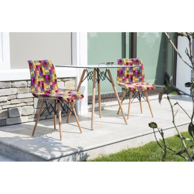 Wooden Leg Chair Laser