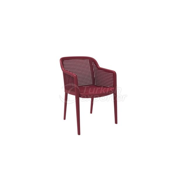 Armchair OCTA Tile Red