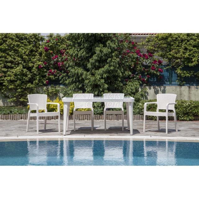 Table Antares - Armchair Antares - Chair Antares