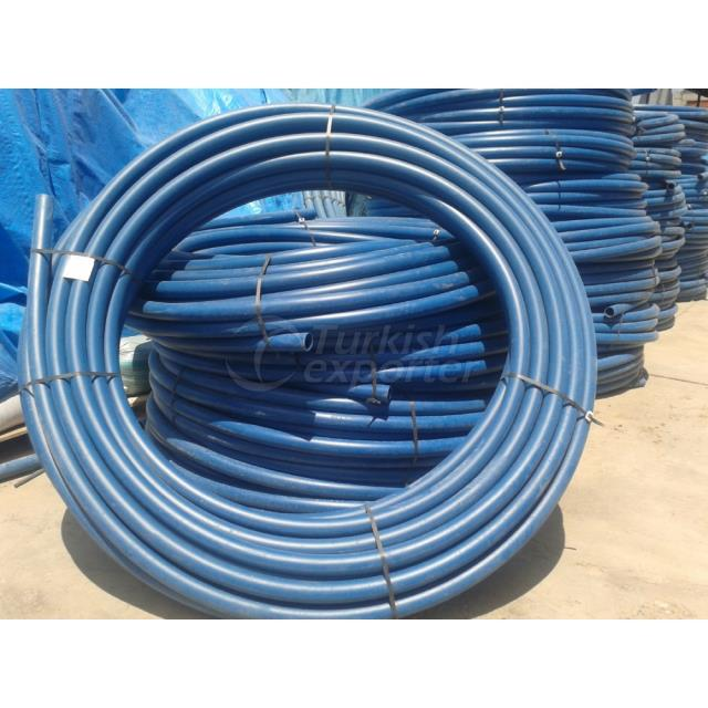 Polyethylene blue tube coil