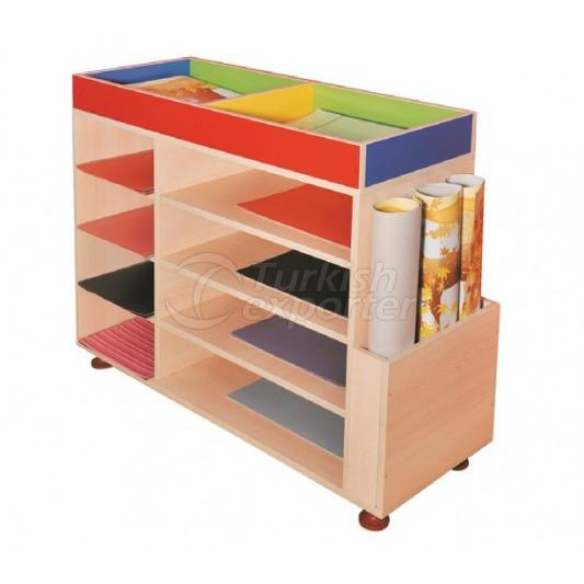 Functional Coloured Paper Cabinet
