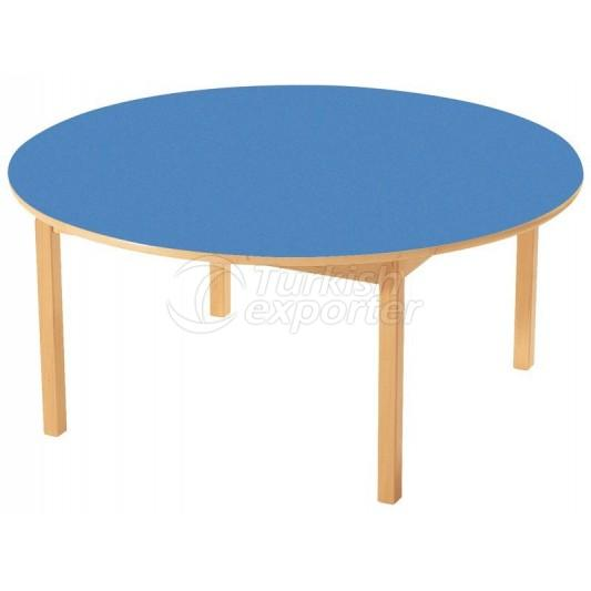 Round Tables With Wooden Legs