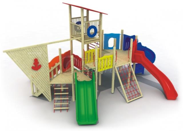 Wooden Kids Playgrounds 233033