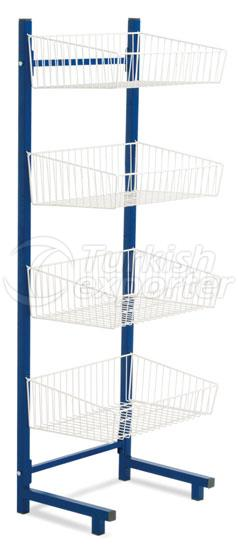 Single Side Wire Basket Stand
