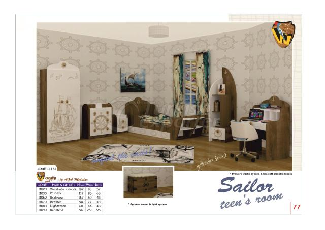 Woody modular SAILOR Teens Room