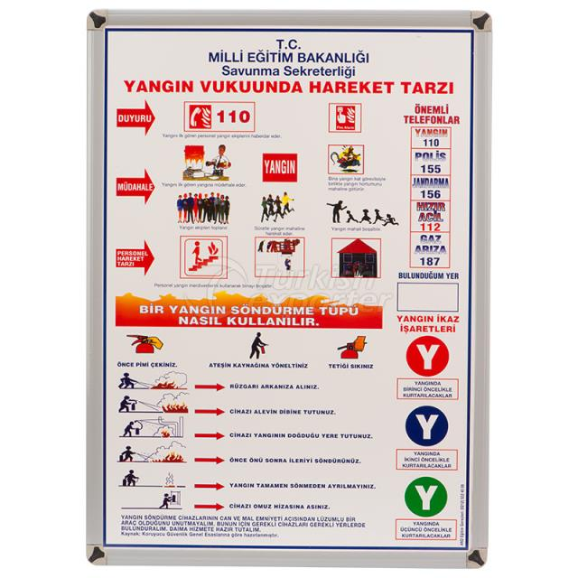 Metal Framed Fire Education Board