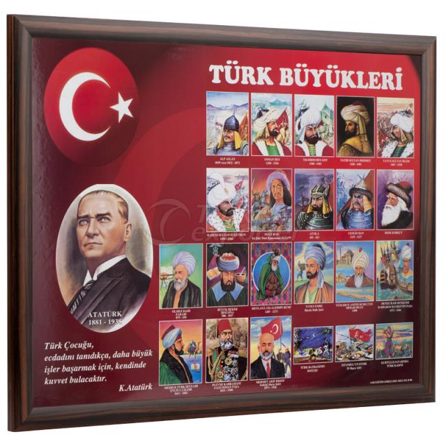 Wooden Framed Turkish Leaders Boards