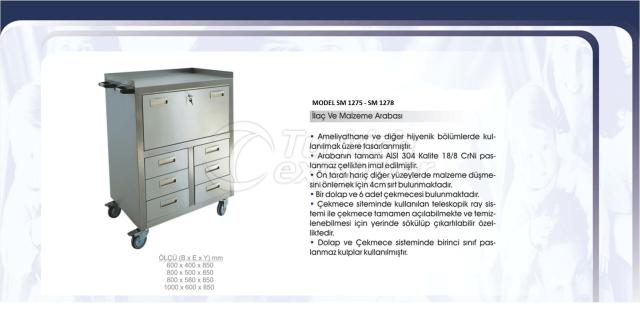 Medication and Material Trolley