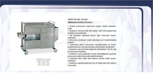 Dressing Trolley with Cabinet
