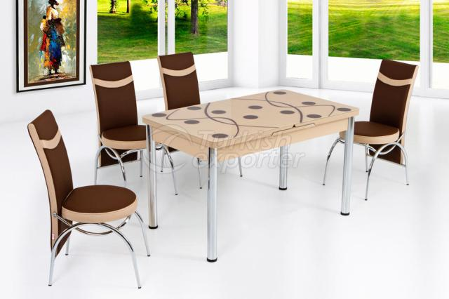 Table Sets Brown Cappuccino