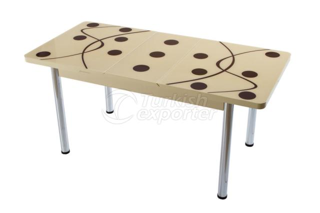Single Table Cream Brown
