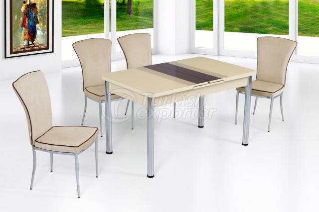 Table Sets Cream Brown