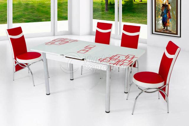 Table Sets White Red