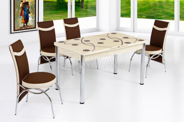 Table Sets Brown Cream
