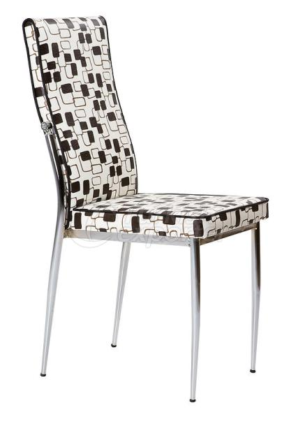 Single Chairs Checkered Black