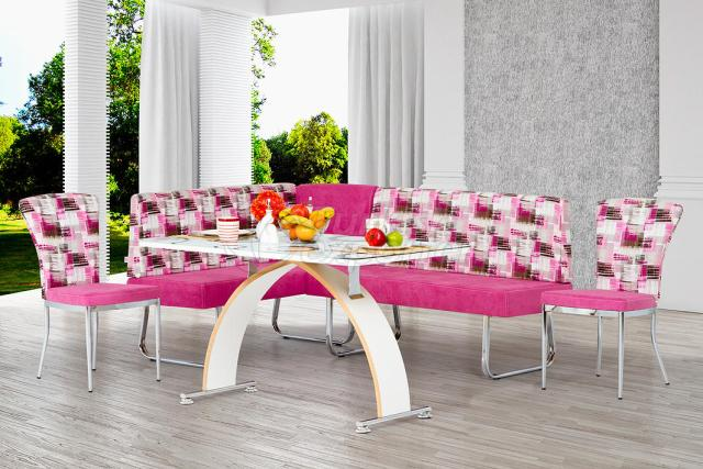 Corner Sets Pink White
