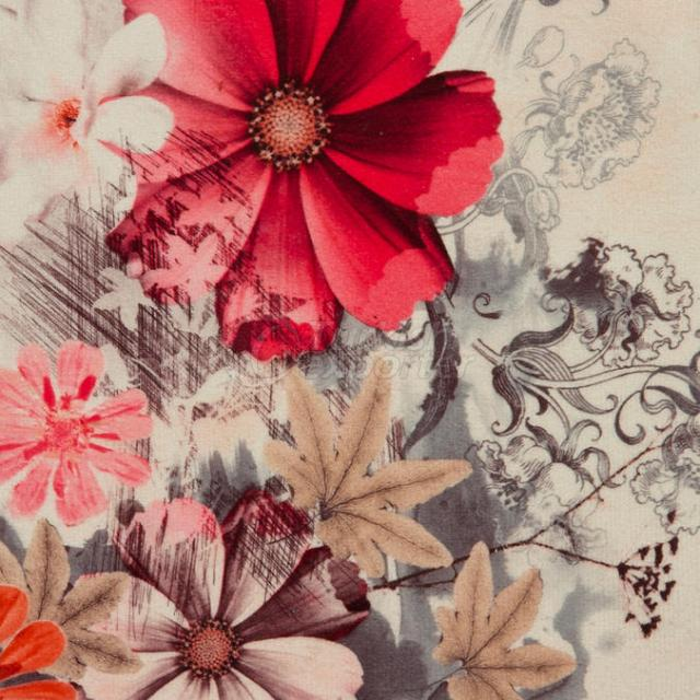 Red Flower Fabric