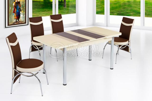Table Sets Brown Crea