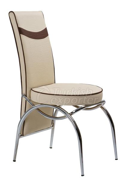 Single Chairs Cream Brown