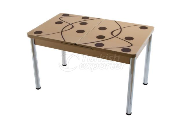 Single Table Cappuccino Brown