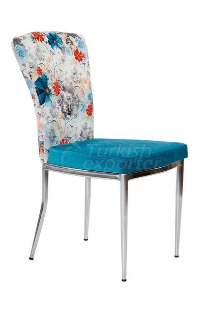 Single Chairs Blue Flower