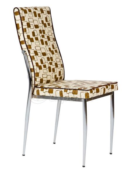 Single Chairs Checkered Brown