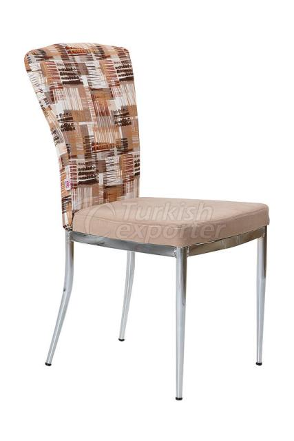 Single Chairs Brown Stripe