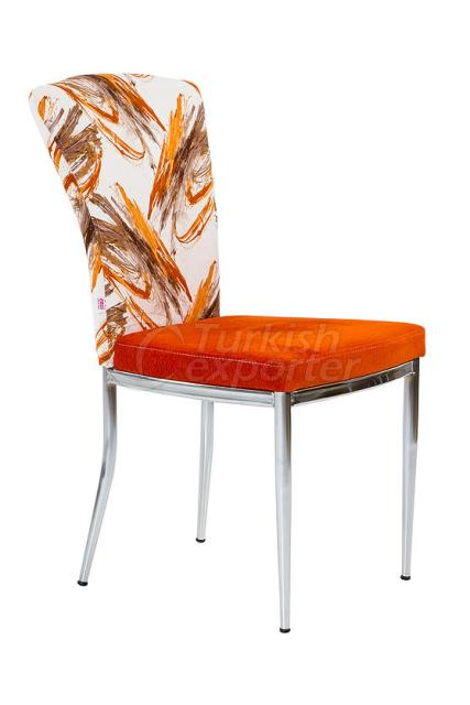 Single Chairs Ellipse Orange