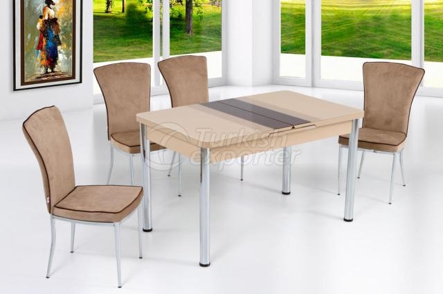 Table Sets Cappuccino Brown