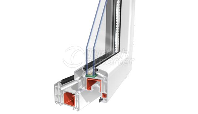 PVC Window Door S75 Power