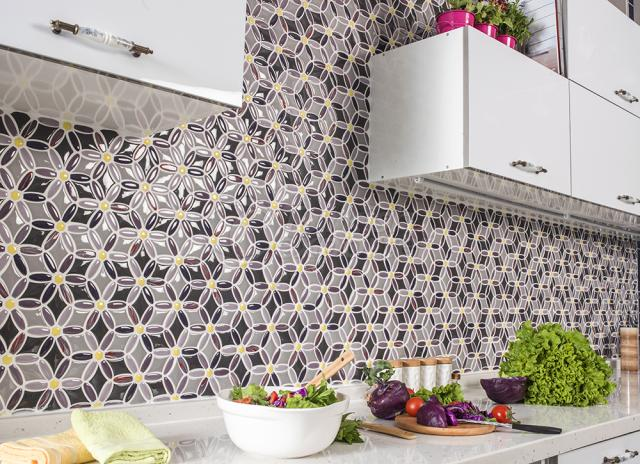 Flower Shape Porcelain Mosaic Tile