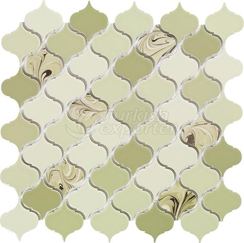 Porcelain mosaic tile Arabesque 3