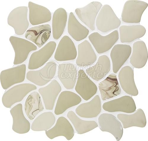 Porcelain mosaic tile Puzzle XL1