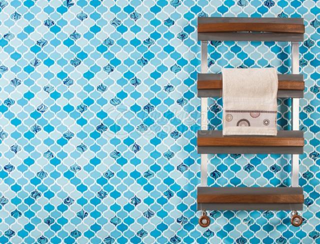 Arabesque  porcelain mosaic tile.