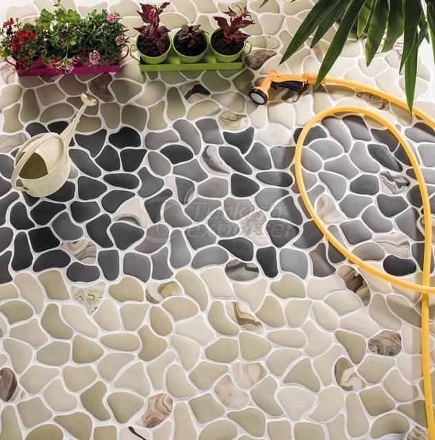 Large Puzzle Porcelain Mosaic Tile